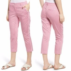 Brax Maron Gingham Stretch Crop Pants